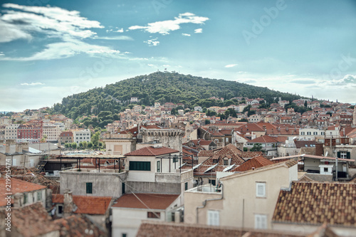 Obrazy architektura widok-na-architektoniczna-panorame-starego-miasta