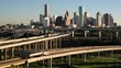 Houston, Texas, USA, highway, city skyline