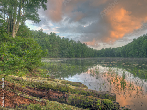 Silver Lake in Sullivan County Canvas-taulu