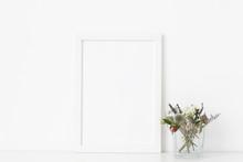 Minimal White A4 Portrait Fram...