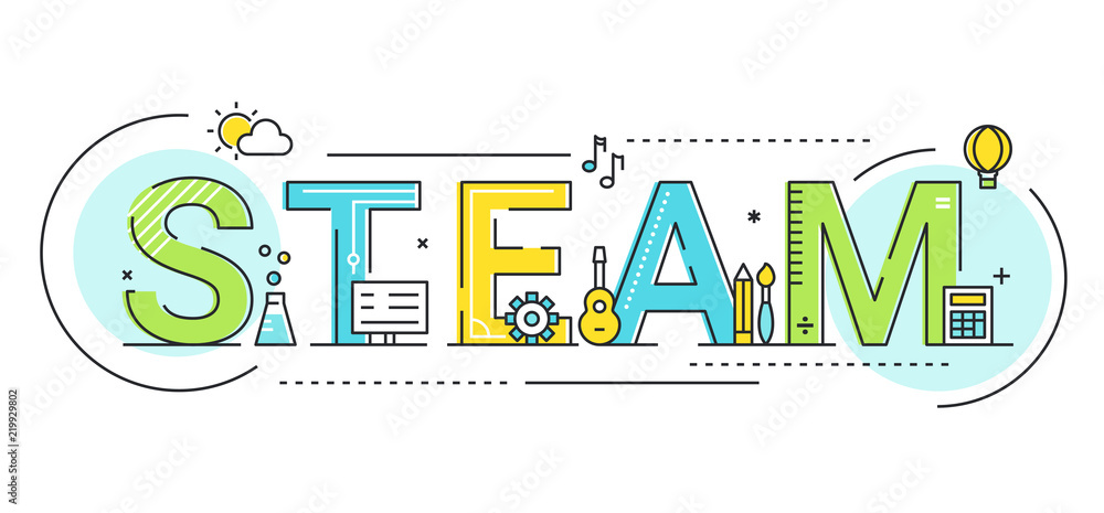 Fototapety, obrazy: Steam Education Approach Concept Vector Illustration