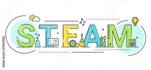 Steam Education Approach Concept Vector Illustration Fototapet