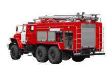 Fire Rescue Vehicle. Big Red R...