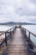 Old wooden pier near water