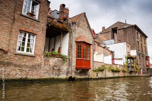 Deurstickers Brugge The medieval city Bruges in Belgium