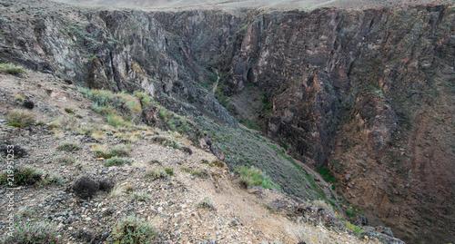 Tuinposter Canyon a deep stone canyon, the famous Charyn Canyon, Kazakhstan