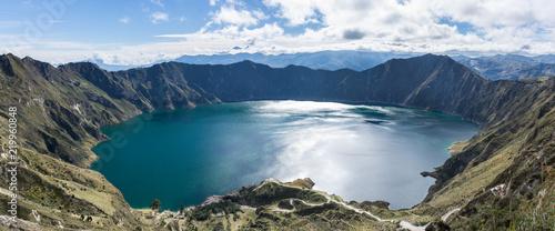 Keuken foto achterwand Zuid-Amerika land Panorama de la Lagune de Quilotoa, Équateur