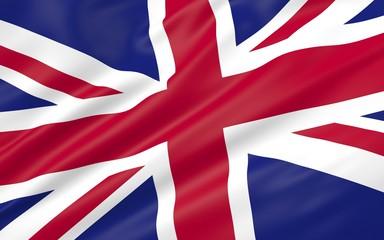 3D illustration of UK flag