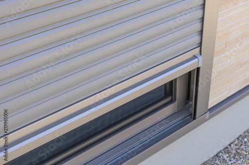 Fotografie, Obraz  新築住宅の窓のシャッター