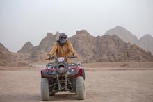 Portrait Of A Man On An ATV. Q...