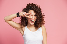 Image Of Happy Young Woman Sta...