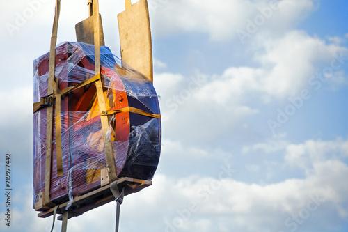 Fotografie, Obraz  Piano transportation blue sky
