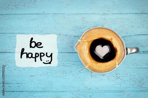 Photographie  Kaffee macht glücklich