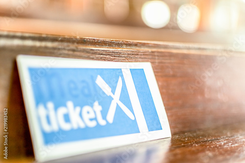 Meal Ticket, Food Ticket, isolated Canvas Print