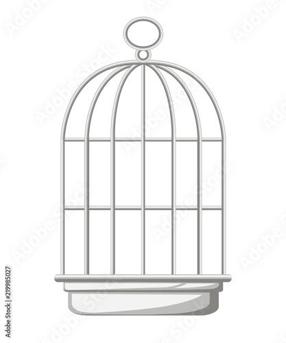 Fotografia Silver bird cage icon