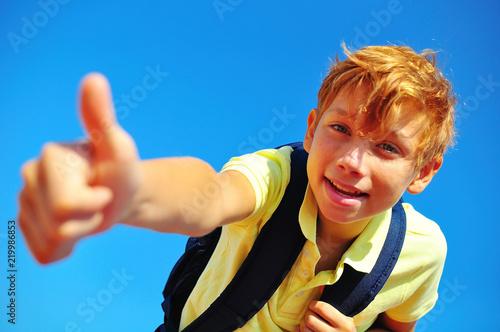 Foto  portrait school boy