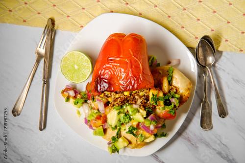 Fotografie, Obraz  Peach Avocado Salsa Chicken