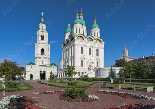 Cathedral of the Assumption and Bell Tower in the Astrakhan Kremlin, Russia Canvas Print