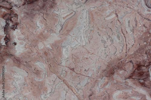 Foto auf AluDibond Alte schmutzig texturierte wand Classic travertine texture. Reddish-brown base with dark and gray spots. Used as a background.