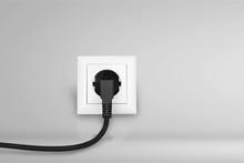 White Electrical Plug In The E...