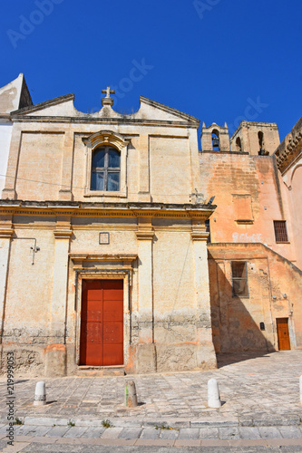 Fotografie, Obraz  Italy, Puglia region, Massafra, typical church in the historic center of the city