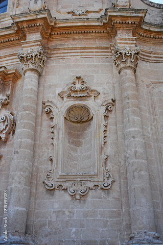 Fotografie, Obraz  Italy, Puglia region, Massafra, church of San Agostino in baroque style, abandoned