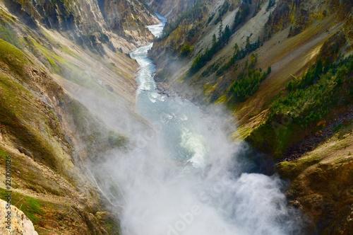 Wall Murals Waterfalls Yellowstone Canyon