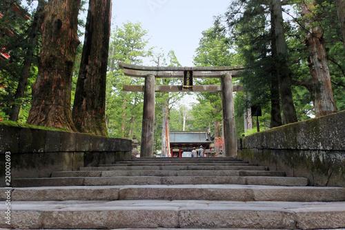 日光_石鳥居から望む日光東照宮 #Shrines and Temples of Nikko. Japan