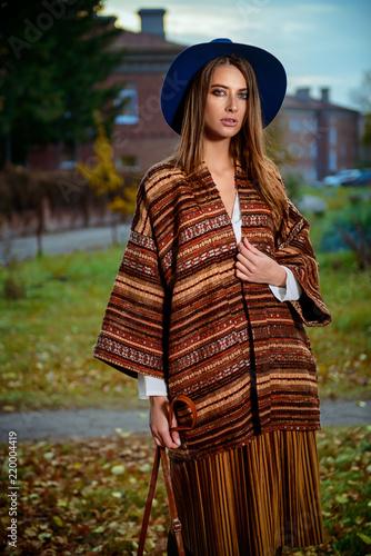 Poster Gypsy charming walking girl