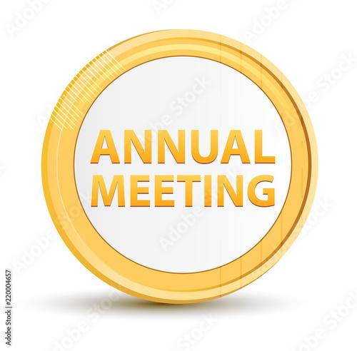 Fotografía  Annual Meeting gold round button