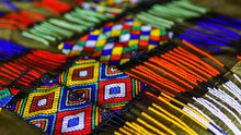 African Zulu Traditional Accessories Made Of Beas