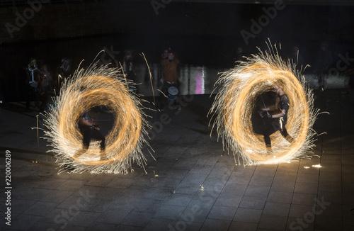 Fotografering  Blazing Fireballs