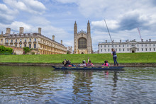 King's College And King's College Chapel, Late Perpendicular Gothic English Architecture, Cambridge, England
