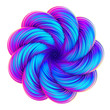 Fluid design holographic abstract twisted shape