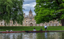 New Court, Cambridge, England. Was Completed In 1831 To The Designs Of Thomas Rickman And Henry Hutchinson. The Style Of The Court Is Gothic, A Romantic Version Of A Medieval Building.
