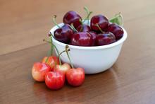 Red Ripe Cherries And Rainier ...