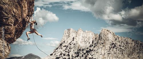 Fotografie, Obraz  Climber on the edge.