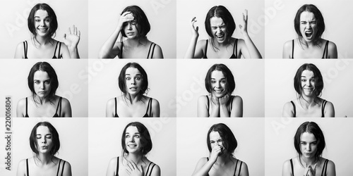 Emotions set collage Wallpaper Mural
