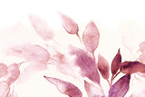 watercolor texture background pink leaves - 220017498