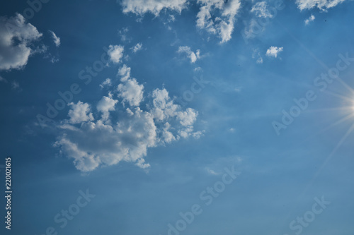 Aluminium Prints Heaven Himmel mit Wolken