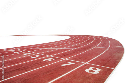 Foto Running race track background with white copy space