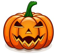 Vector Orange Halloween Pumpki...