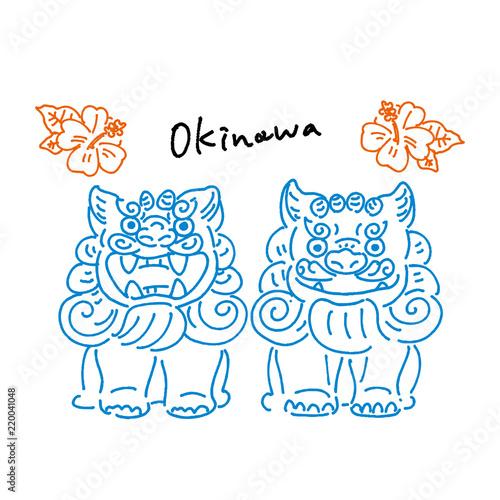 沖縄 シーサー 手描き イラスト Adobe Stock でこのストックベクターを