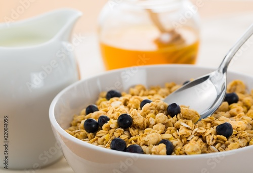 Cereals with Blueberries