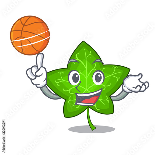 Fotografie, Obraz  With basketball ivy leaf isolated on character cartoon