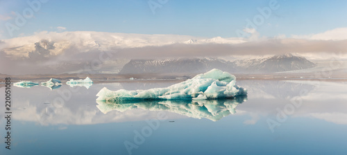 Beautiful view of iceberg at Jokulsalon glacier lagoon in Iceland.