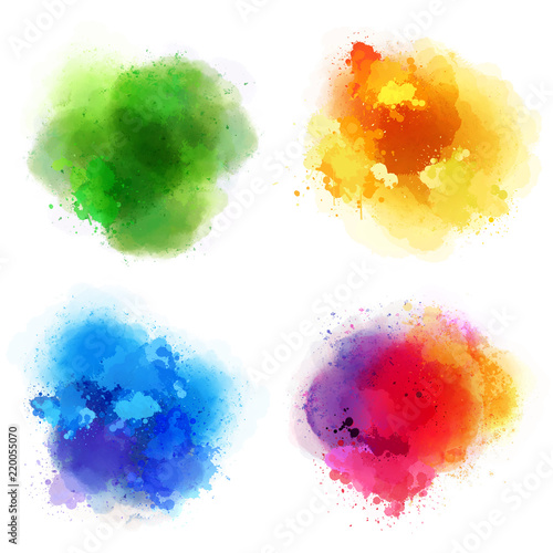 4 colorful splashes