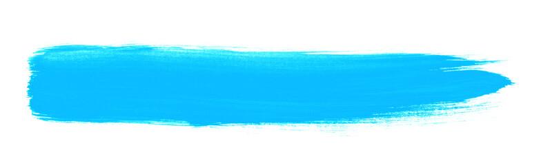 Hellblauer schnell gemalter Pinselstreifen
