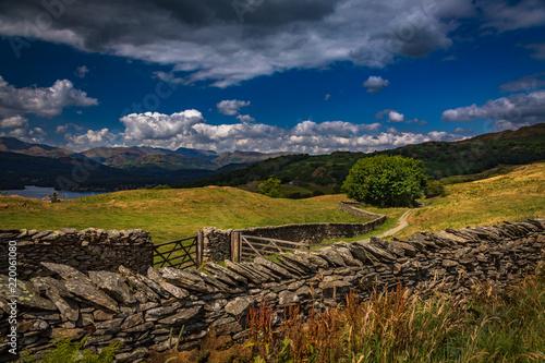 Foto op Aluminium Nachtblauw Lake District in Cumbria