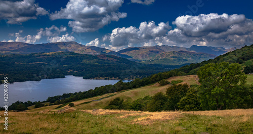 Foto op Canvas Nachtblauw Lake District in Cumbria